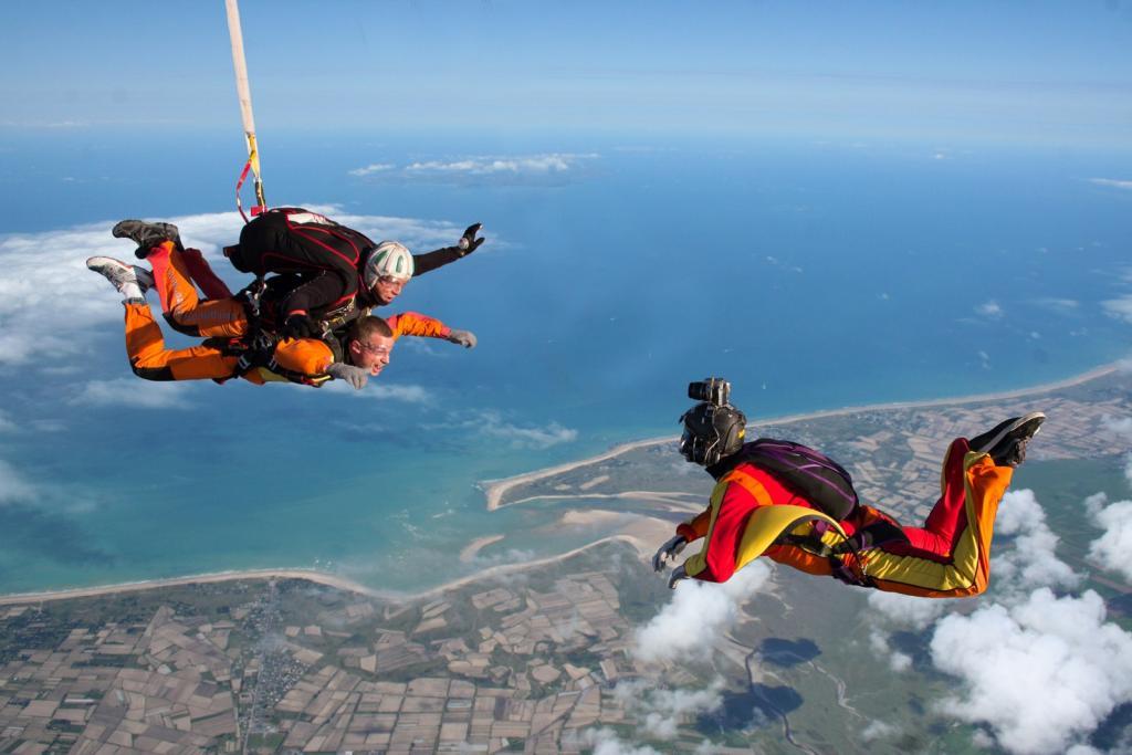 Comment offrir un saut en parachute ?